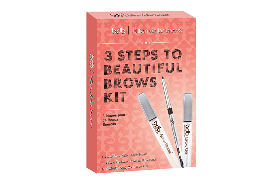 Набор для бровей 3 Steps to Beautiful Brows Kit от Billion Dollar Brows