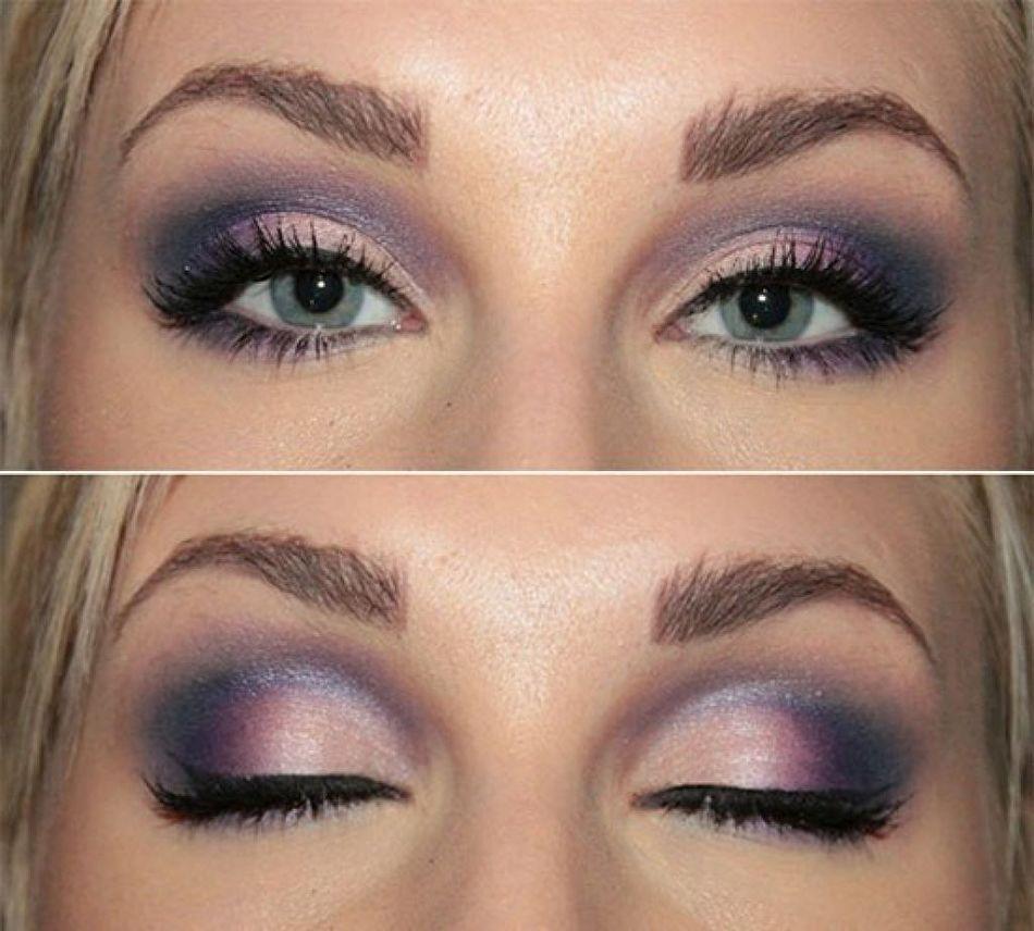 Цветной макияж для нависшего века